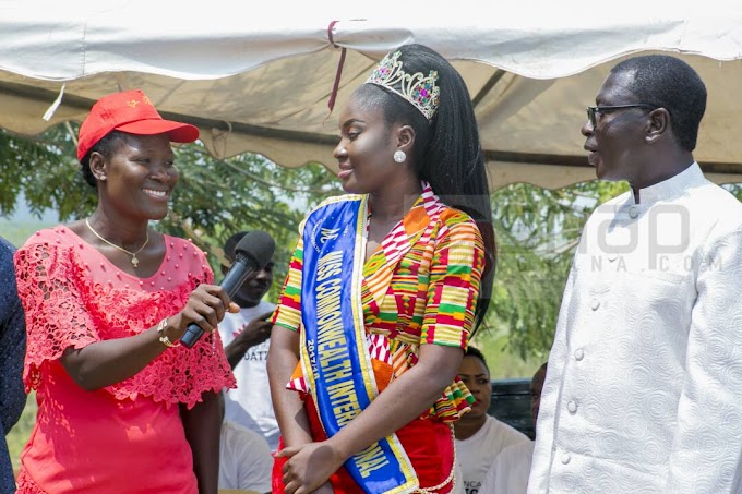 Photos: Miss Commonwealth 2017, Ms Princess Duncan donates to Royal Seed Orphanage