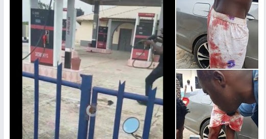 PHOTOS: NIGERIAN SARS POLICE OFFICER SHOOTS GUY ON CAMERA IN DELTA STATE