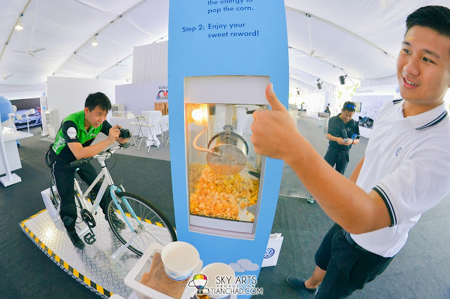 Cycle to generate power to pop your popcorns