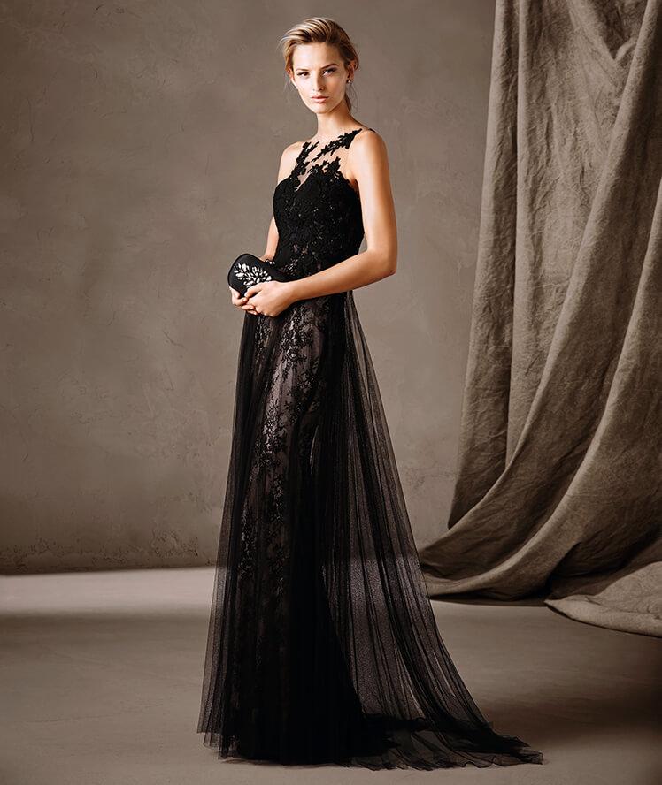 Modelos de vestidos de fiesta negro