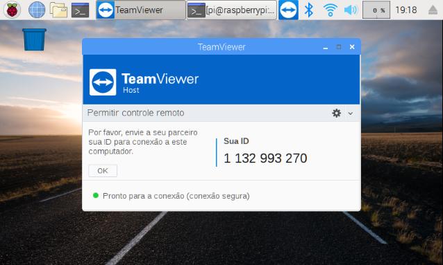 Usando TeamViewer na Raspberry Pi