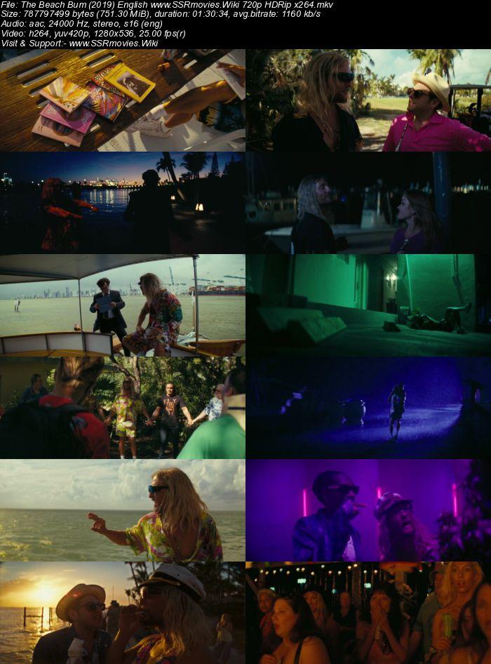 The Beach Bum (2019) English 720p HDRip x264 750MB Movie Download