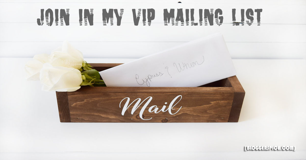 VIP mailing list of BloggerSpice