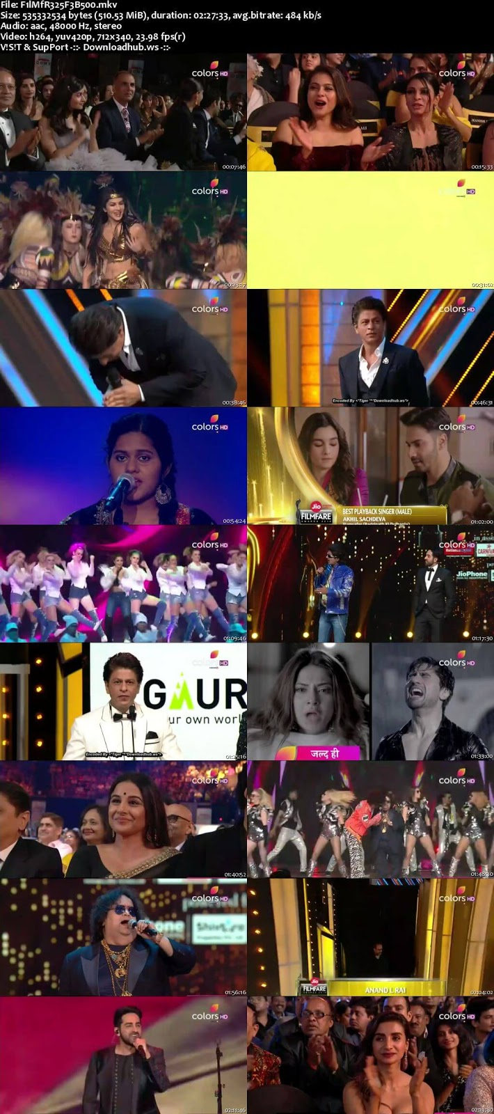 Filmfare Awards 25th February 2018 480p HDTV