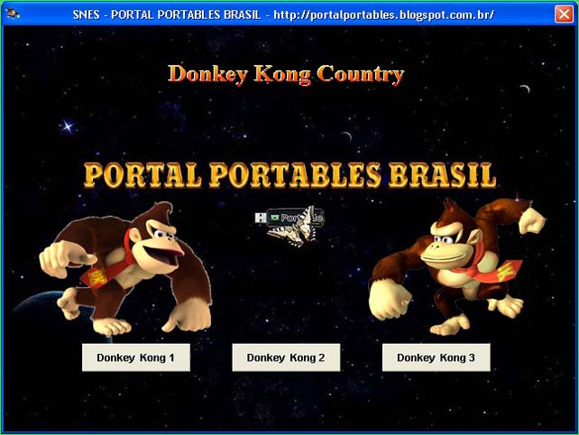 Donkey Kong Country Pack 3 em 1