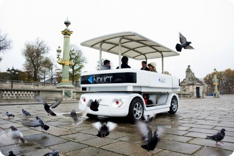 Navia new driverless electric vehicle for passenger transport
