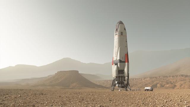 Đây là Daedalus – con tàu vũ trụ đưa những người tiên phong từ Trái Đất đến Sao Hỏa. Nó được đặt tên theo vị thần sáng tạo và là một nhà chế tạo theo Thần thoại Hy Lạp.