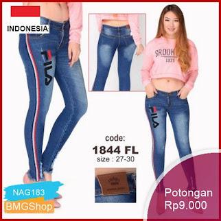 NAG183 Celana Panjang Wanita Soft Jeans List 1844fl Murah Bmgshop
