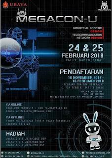 Mechatronic Game and Contest Universitas Surabaya (MEGACON-U) 2018 Untuk SMA Sederajat