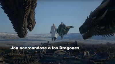 Jon Snow y Daenerys en Game of thrones 8x01