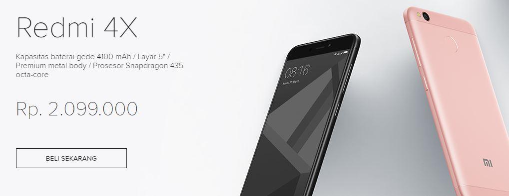 Spesifikasi dan Harga Xiaomi Redmi 4X dengan Chipset Qualcomm Snapdragon 435