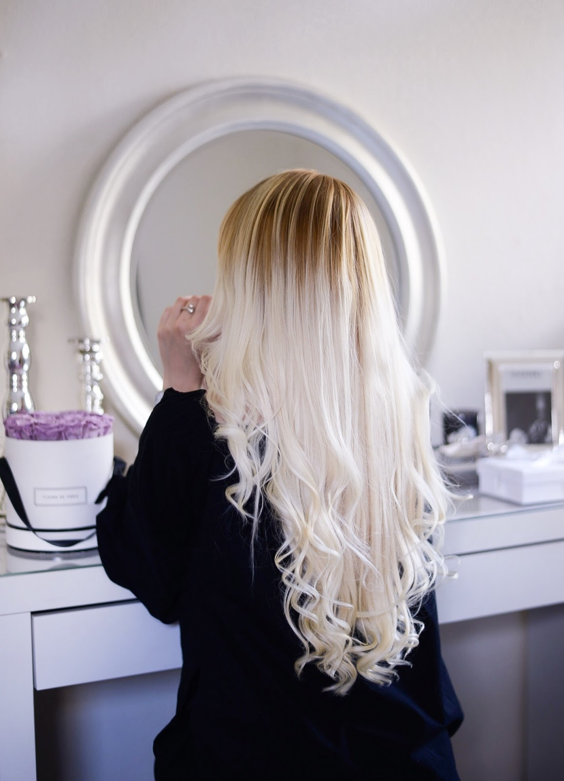 long natural blonde hair