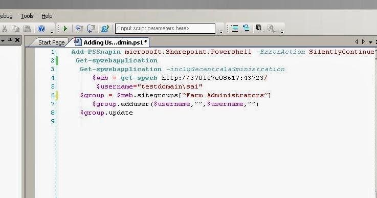 My Small SharePoint World : Powershell Scripts