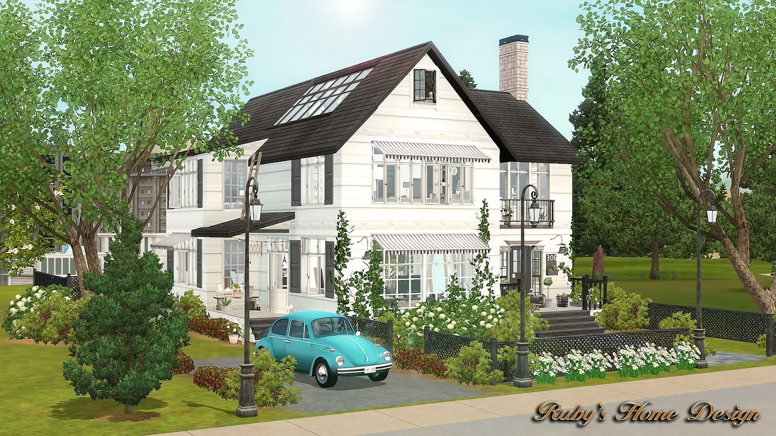 Sims3 monochrome ruby 39 s home design for House design com