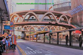 Circular walkway, Causeway Bay, Hong Kong