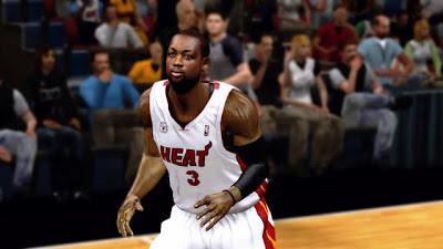 NBA 2K13 Dwayne Wade Cyber Face Patch