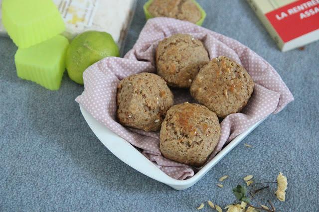 Cuillère et saladier : Petits moelleux citron-châtaigne