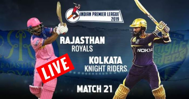 VIVO IPL 2019 Match 21 RR vs KKR Live Score and Full Scorecard
