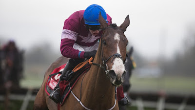 Gordon Elliott in the first race of the day, Mengli Khan