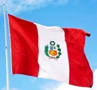 Foto de la bandera del Perú a color
