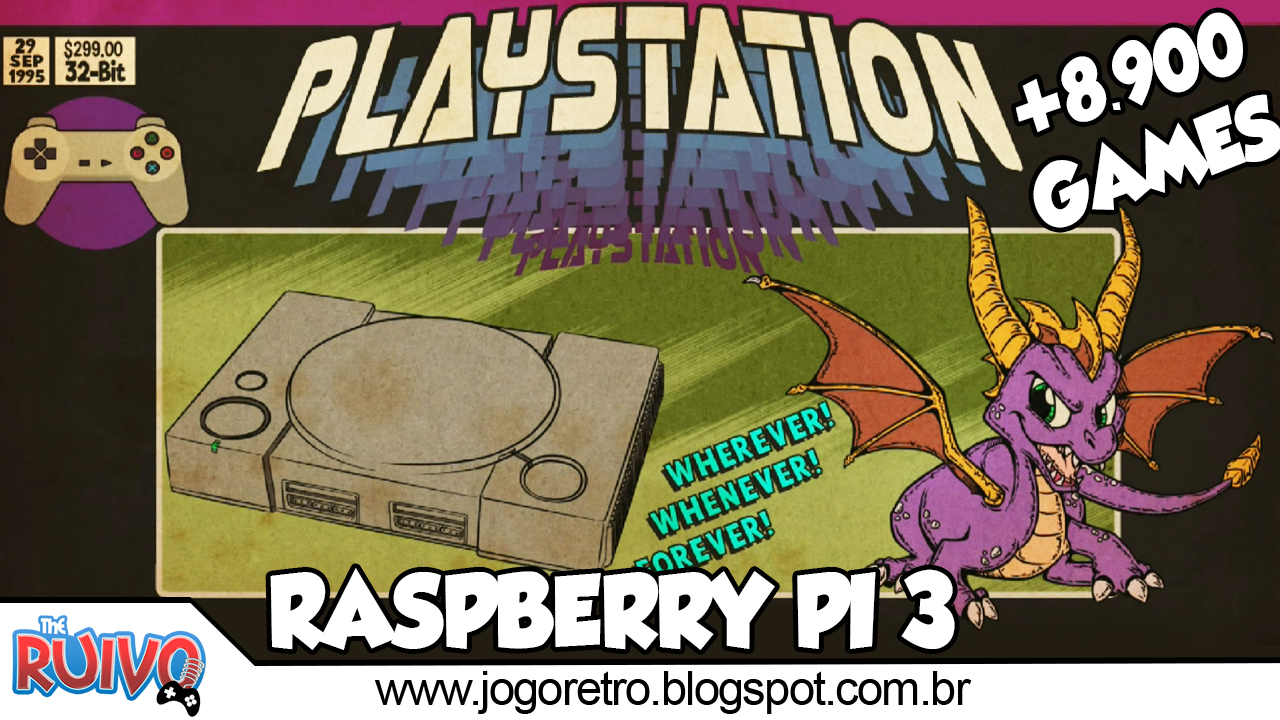 Raspberry Pi 3 (RPi3 Plus) RetroPie 4 4 RetroRama 128GB com OpenBOR