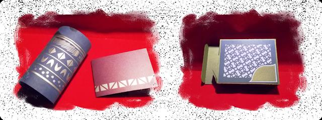 Illustration mit 2 Fotos, von einer Karte und einer Box