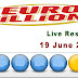 Euro millions Live Result Tuesday 19 June 2018 United Kingdom
