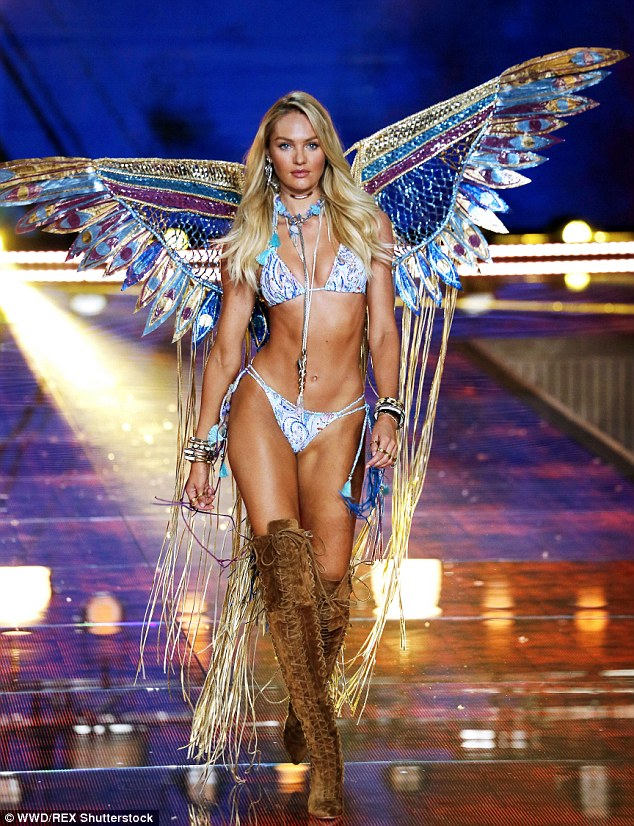 Candice Swanepoel smoulders at the 2015 Victoria's Secret Fashion Show in NY