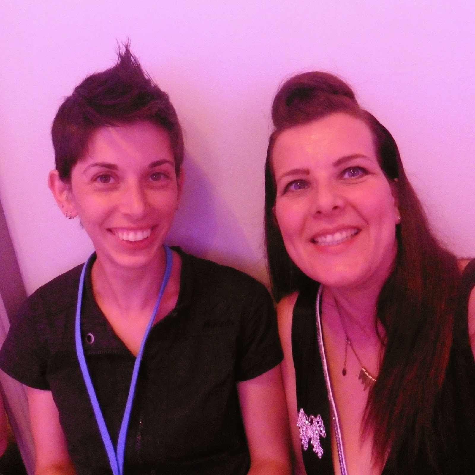nadine and me at Britmums Live