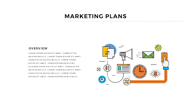 Infographic Marketing Plan Free PowerPoint Template Slide 2