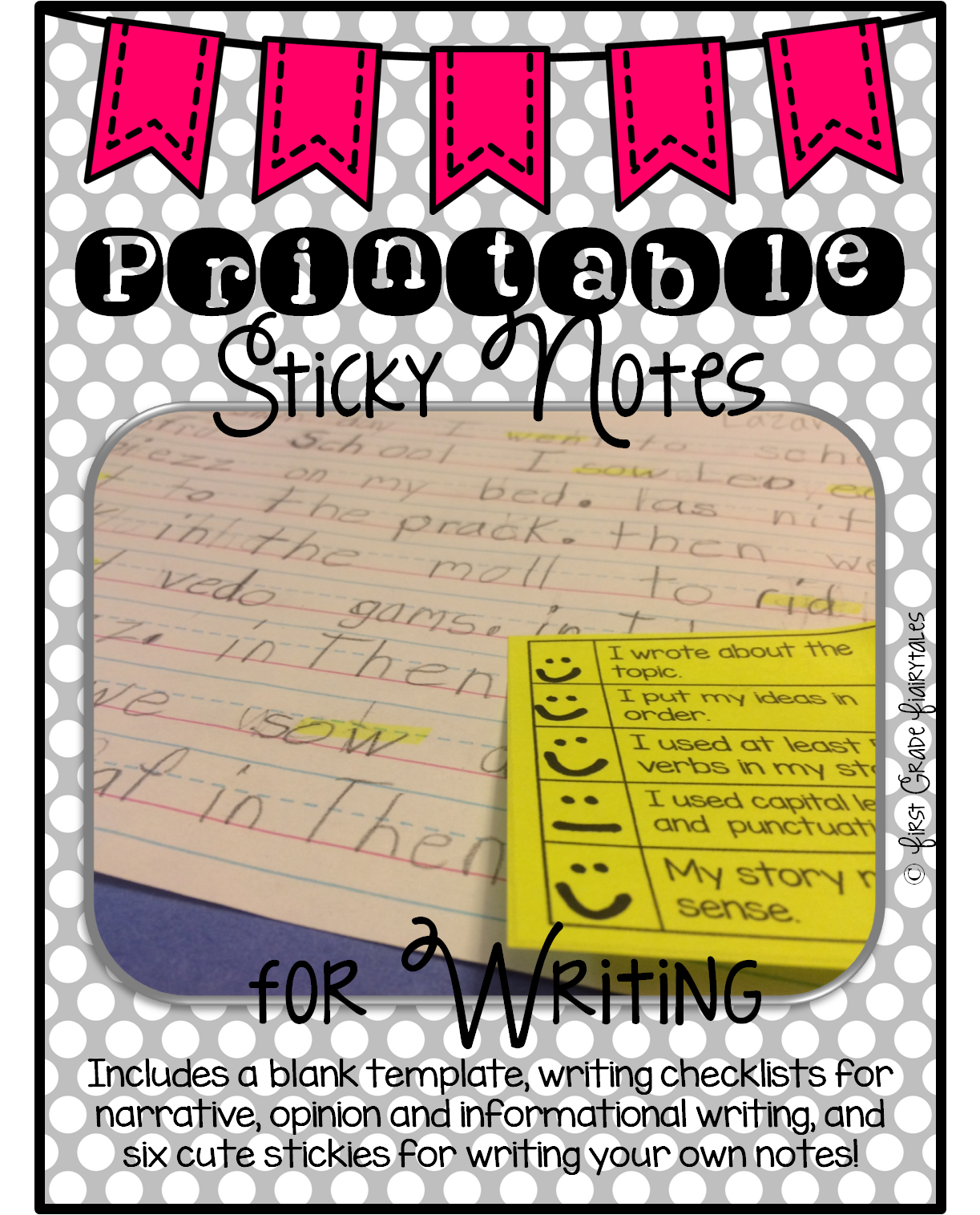http://www.teacherspayteachers.com/Product/PRINTABLE-Sticky-Notes-for-Writing-1482685