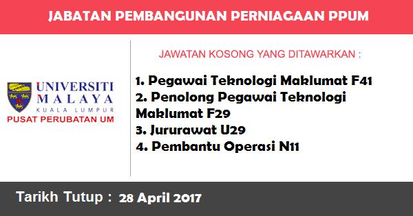 Jawatan Kosong di Jabatan Pembangunan Perniagaan Pusat Perubatan Universiti Malaya