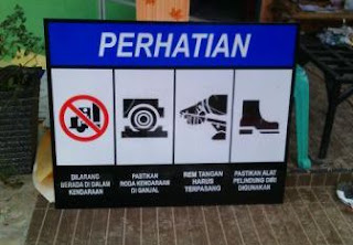 jual rambu k3 - safety sign palembang