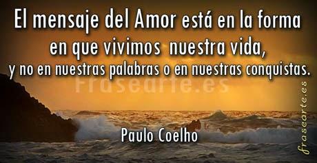 Mensajes de amor de Paulo Coelho