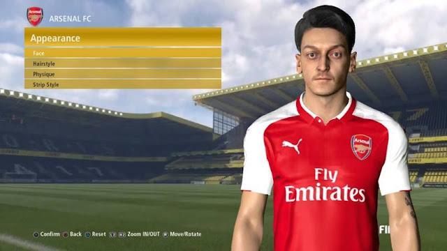 Mesut Ozil Face PES 2017