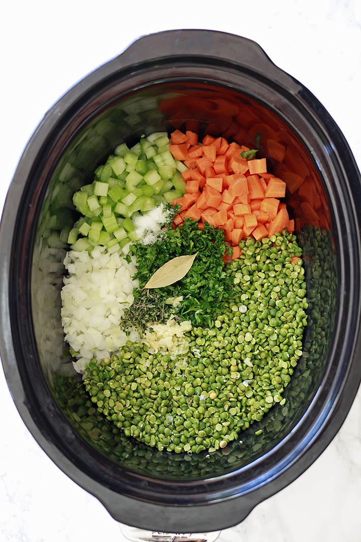 Crockpot Vegetarian Split Pea Soup Recipe