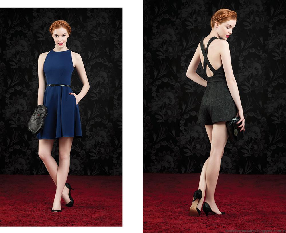 Vestidos cortos de moda otono invierno 2014