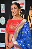 Priya Shree in Beautiful Blue Saree at IIFA Utsavam Awards 2017  Day 2    HD Exclusive Pics 18.JPG