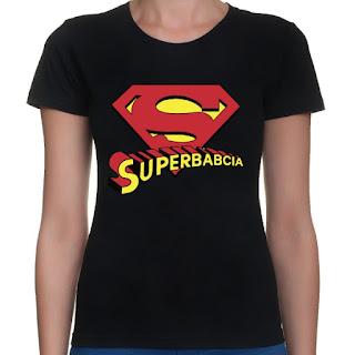 Pomysł na prezent dla babci - Koszulka Superbabcia