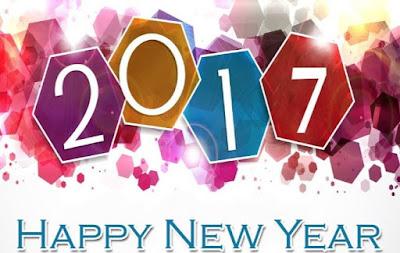 Gambar Kartu Selamat Tahun Baru 2017 Happy New Year Wallpaper HD