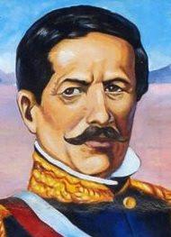 Rostro de Ramón Castilla a colores