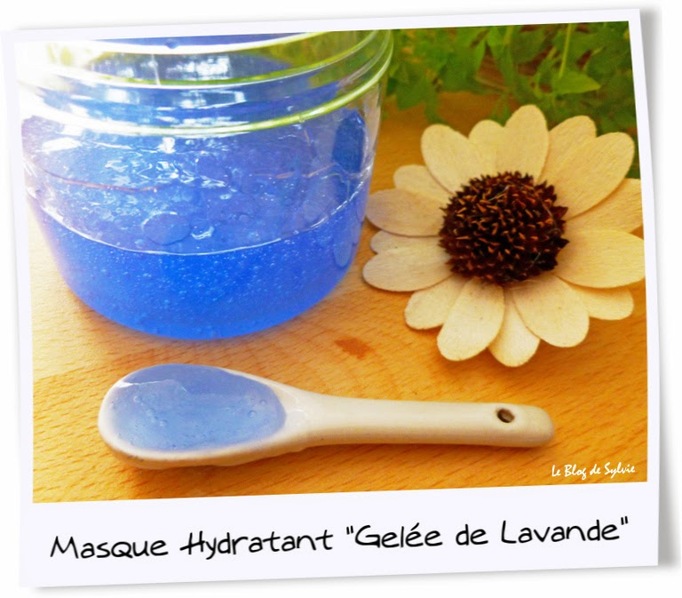 le blog de sylvie masque hydratant gel e de lavande. Black Bedroom Furniture Sets. Home Design Ideas
