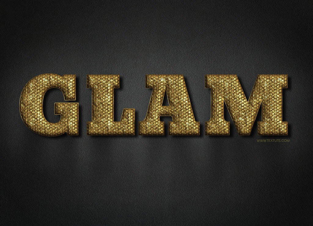 Glam Gold Text Effect in Photoshop Tutorial
