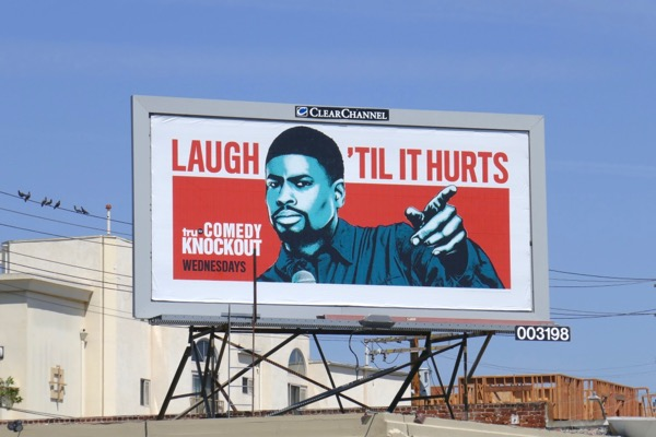 Laugh til it hurts Comedy Knockout billboard