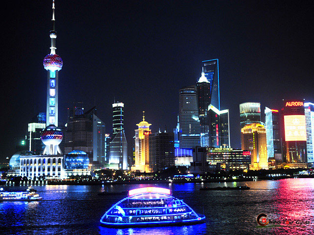 Yeah, it's like New York - Shanghai in night, the Bund