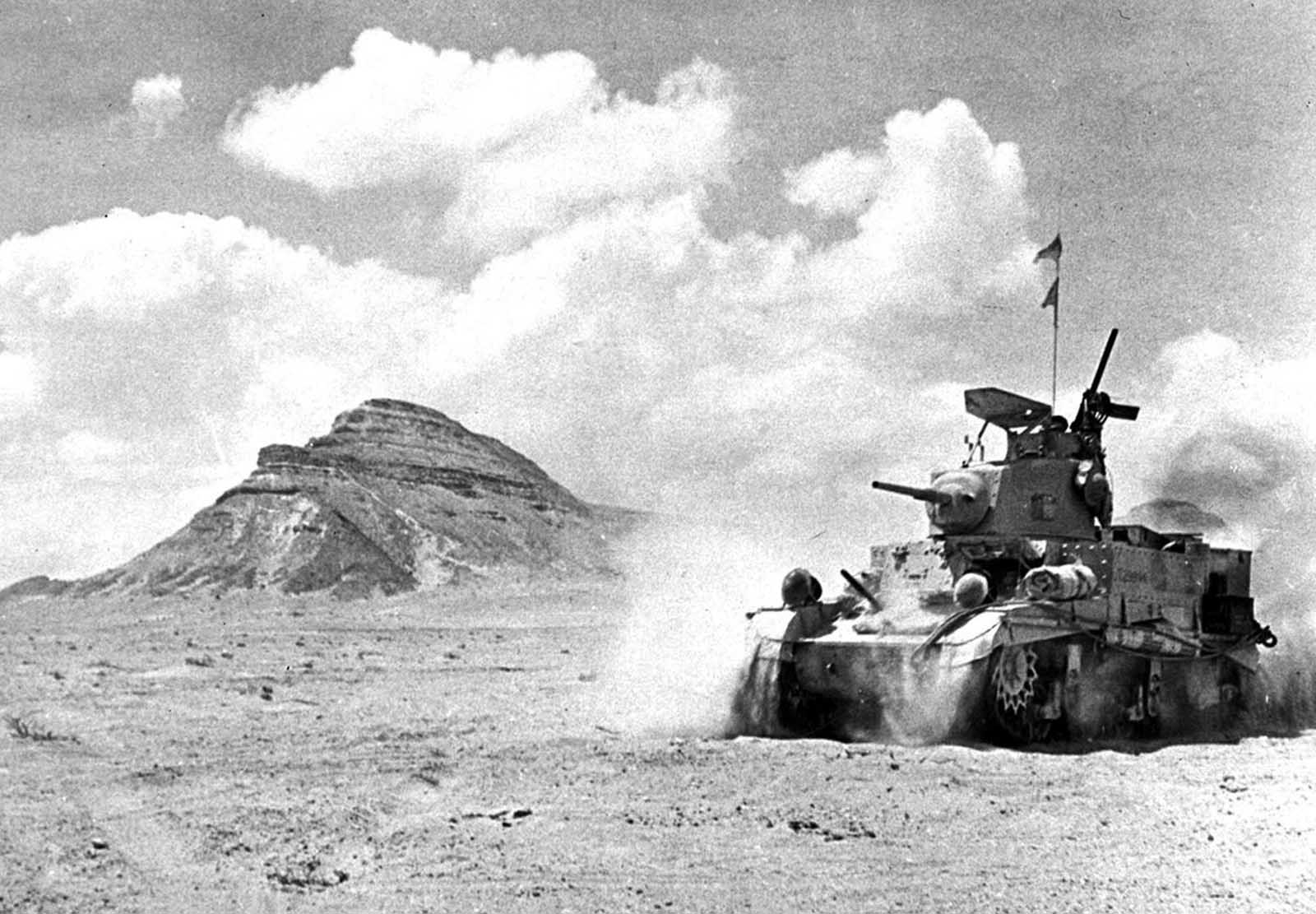 A British unit in a U.S. built M3 Stuart
