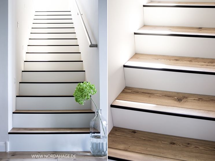 treppe mit vinyl bekleben good kreativ elegant neu haus laminat vinyl boden eiche weiss m pvc. Black Bedroom Furniture Sets. Home Design Ideas