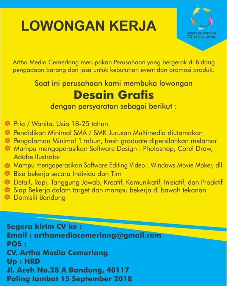 Lowongan Kerja Desain Grafis Di Bandung Lowongan Kerja Terbaru