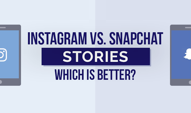 Instagram Stories vs. Snapchat Stories (infographic)