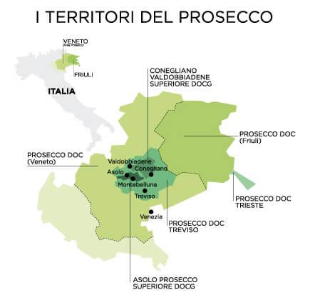 mapa prosecco